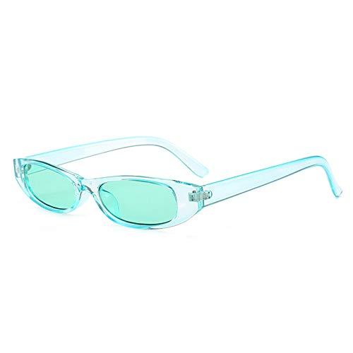 Yangjing-hl Sonnenbrille Fashion Retro Sonnenbrille Kleine Box Herren Damen Sonnenbrille, Light Green Frame Green Piece, Einheitsgröße