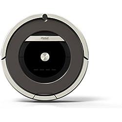 Robot Aspirador IRobot Roomba 871 - Potente Sistema de Limpieza Antienredos, Sensores de Suciedad Dirt Detect, Todo Tipo de Suelos, Óptimo para el Pelo de Mascotas, Programable, Gris