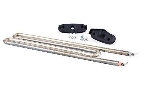 DREHFLEX® - Heizung/Heizelement/Heizwiderstand für diverse Miele Waschmaschinen - für Teile-Nr. 6260482 mit 2100 W inkl. 2 Dichtung
