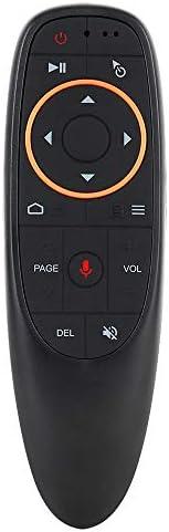 جي 10 جهاز تحكم لاسلكي عن بعد بتردد 2.4 جيجا هرتز مع جهاز استقبال يو اس بي وتحكم صوتي لاجهزة اندرويد تي في بوك
