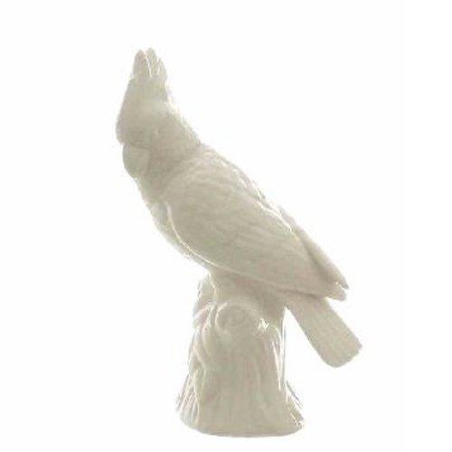 Großer Porzellan Papagei Kakadu in Weiß, 23 cm