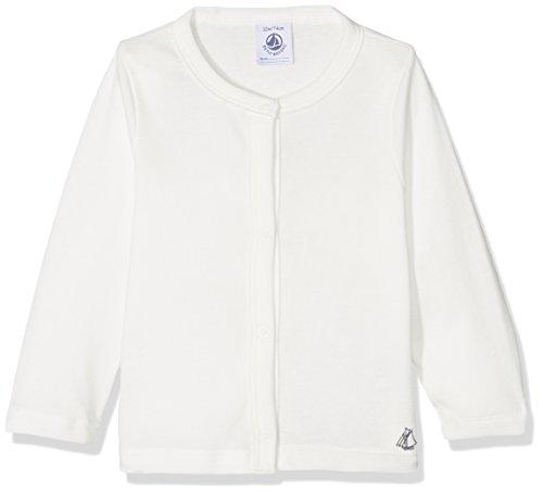 Petit Bateau Baby-Mädchen Strickjacke Cardigan 28773, Weiß (Marshmallow 88), 92 (Herstellergröße: 24m/86cm) (Weiße Baumwolle Strickjacke)