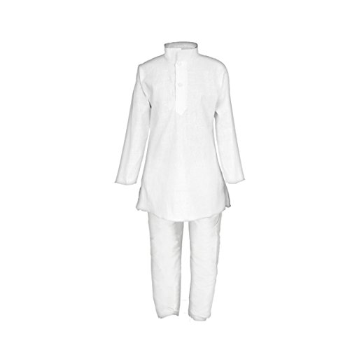 JBN Creation Boys Pure Cotton Kurta Pyjama (VASBKP026new_24_White_5-6 Years)