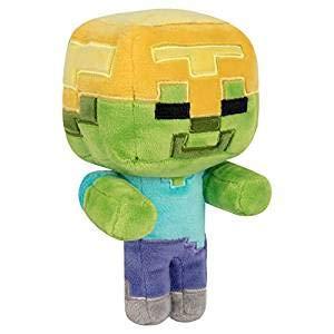 Minecraft 8729Happy Explorer Oro Casco Zombie Plush, V