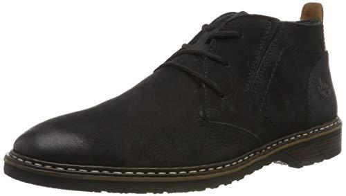 Rieker Herren 13930 Desert Boots, Schwarz (Schwarz/Schwarz/Kastanie 00), 43 EU