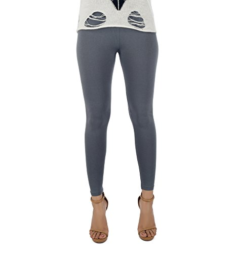 Legrisa Fashion Women's Steel Grey Colour Ankle Length Leggings in XL, XXL & XXXL  available at amazon for Rs.314