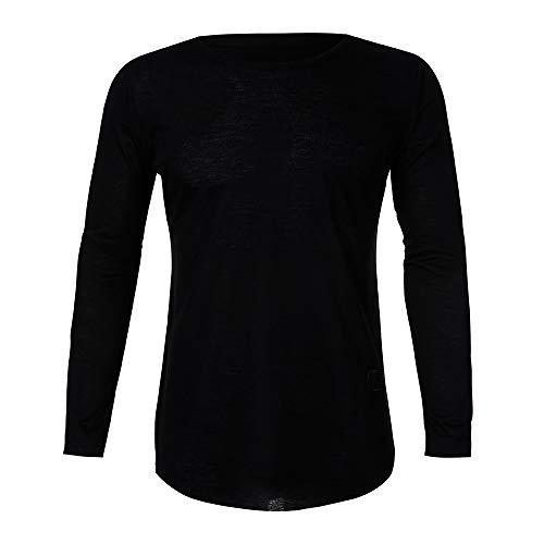 Herren Oberteile,TWBB Autumn Winter Einfarbig Sweatshirt CardiganShirt Casual Tops Lange Ärmel Männer O-Neck Hemd