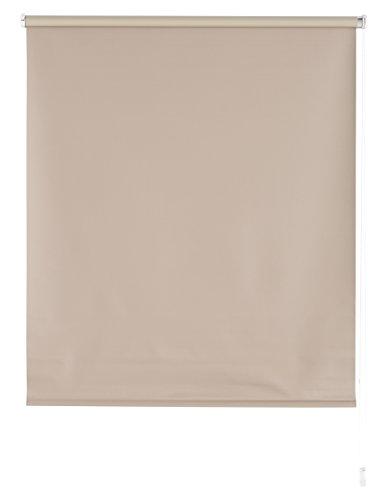 Blindecor Estor Enrollable Blackout Liso, Tela, Marfil, 140 x 175 cm