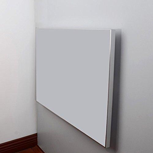 Desk XIAOLIN Aluminiumlegierung Paket Rand Folding Esstisch Mahlzeit Beistelltisch Europäischen Wand Tisch Klapptisch Wandtisch Spiegeleffekt Optional Farbe (Farbe : 02)
