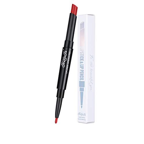 Vovotrade Rouge à Lèvres Double Ligne brillant 2-in-1 + Lip Liner Hydratant Beauté 2019 mat Métallique Beauté Mode Cosmétiques Temptation 1PC 3D Aurora Lips Matte Imperméable à l'eau