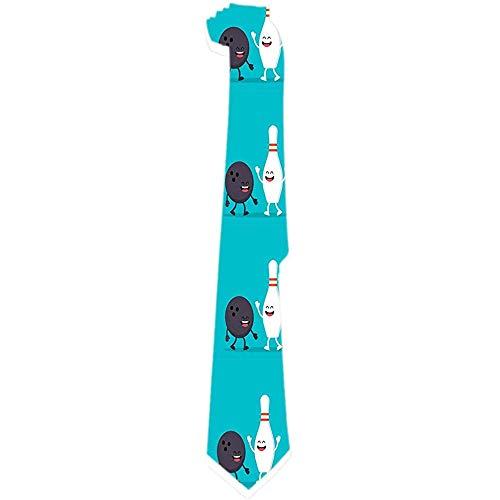 Mens Tie Lustige Bowlingkugel Und Pin Classic Krawatten Einzigartiges Geschenk Krawatten Für Business Wedding Party