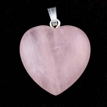 Quarzo rosa cuore ciondolo - Quarzo Rosa Cuore
