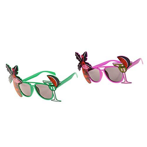 IPOTCH 2 teilig Lustige Sonnenbrille Set Brillen Kostüm Gläser Party Zubehör