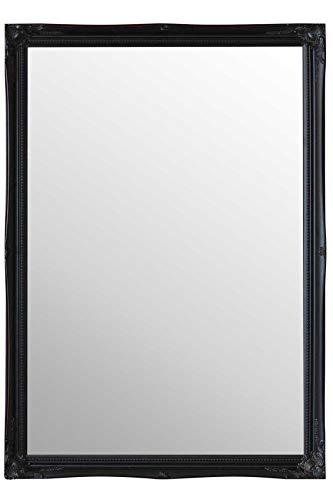 MirrorOutlet Schwarz groß antik Shabby chic Spiegel zur Wandmontage 3FT4X 2FT4, 102cm x 72cm