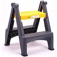 SHLDTZ Escalera escalera de mano plegable taburete de lavado de autos escalera de dos pasos pedal de plástico grueso escalera interior pequeña portátil (Color : Amarillo)