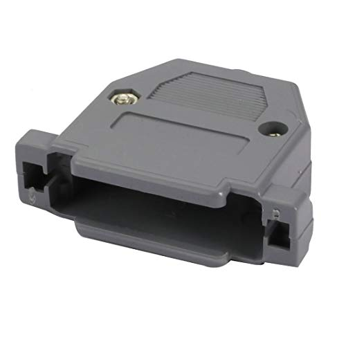 Kunststoff-cover Assembly (ZCHXD DB25 Male/Female Port D-Sub Connector Kit Cover Housing Assembly Shell Plastic Hood Gray)