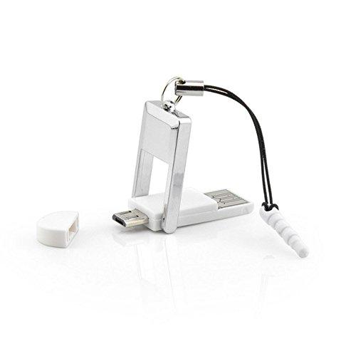 2 in 1 OTG-Adapter, Kartenleser für Smartphones und Tablets mit Micro-USB Anschluss, 2.0 USB, MicroSD, SDHC