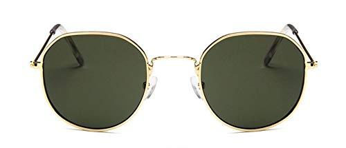 WSKPE Sonnenbrille Frauen Männer Sonnenbrille Metallrahmen Balken Sonnenbrille Männer Frauen Yewear Uv400 Dunkel Grüne Linse