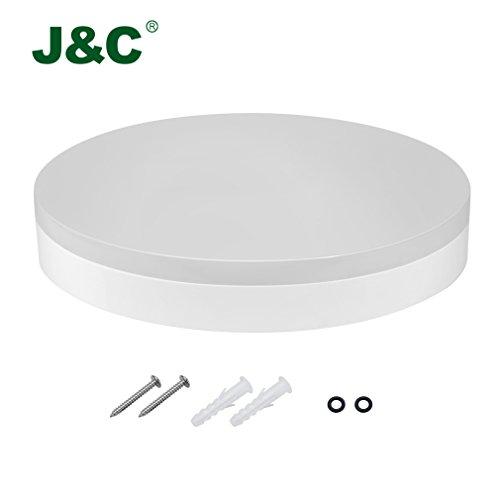 J&C® IP40 18W 1200LM Rund LED Feuchtraumlampe Wannenlampe Deckenleuchte Deckenleuchte Warmweiß 2800K-3200K RA>80 (18W WW)