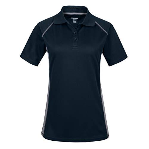 Damen Poloshirt/Funktionsshirt in Übergrößen S bis 3XL - für Sport Freizeit und Arbeit(XL,Navy)