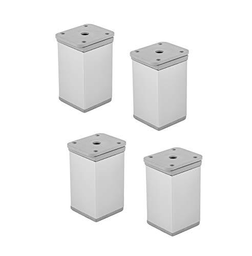 GedoTec Piedini per mobili Alluminio regolabile in Altezza - Modello KATRIN 75 mm Tubo-Ø 40 Base +15 argento anodizzato Qualità del marchio Zona living - 4 Stück - Höhe: 100 mm