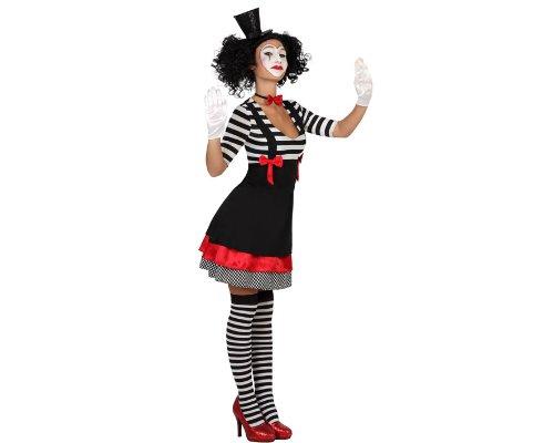 Kostüm Weiblich Französisch - ATOSA 22972 - Mime weibliches Kostüm, Größe XS-S, schwarz/weiß
