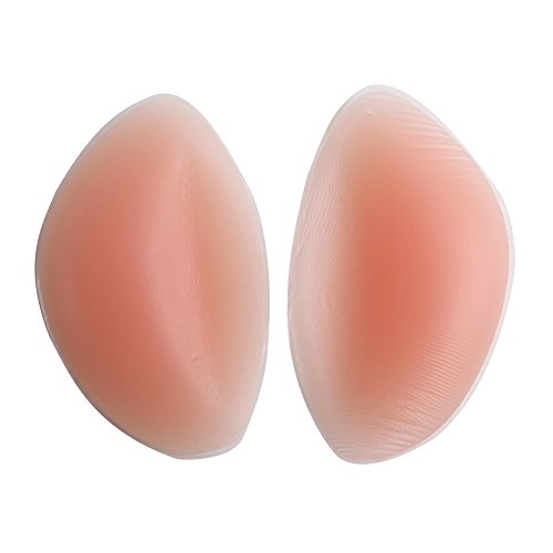 AGIA TEX 2x Silikon-Gel Einlagen unter BH, Bikini & Badeanzug, Push-Up Pads Kissen für Brustvergrößerung und Dekolleté, Verwendbar bei Cup A B C D, Halbrund