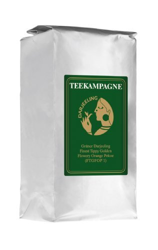 Teekampagne Darjeeling-Grüntee - Milder Biotee (kbA), 500g, Finest Tippy Golden Flowery Orange Pekoe (FTGFOP1)