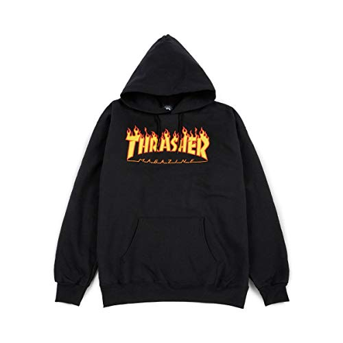 Thrasher Flame black Hooded Taille M