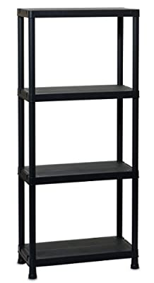 TOOMAX 138 x 60 x 30cm Universal Shelving 63-4 Maxi Shelf Unit with 4 Shelves - Black
