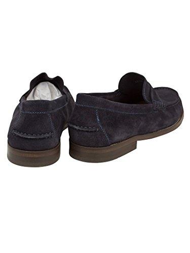 H by Hudson Herren Augusta Suede Shoes, Blau Blau