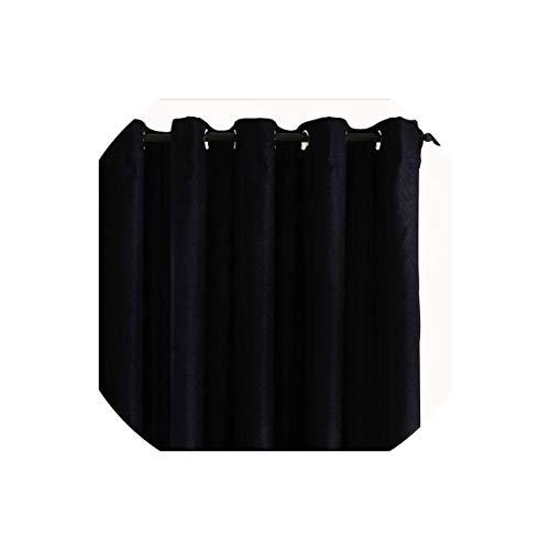 Plain Velvet Cotton Vorhänge für Wohnzimmer Schlafzimmer-Tür-Fenster-Panel Blackout Vorhang Vorhänge, Schwarz, W150 X H250Cm,   3 Rod-Taschen - Rod Vorhang Grüne