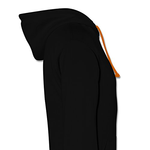 Programmierer - There is no place like 127.0.0.1 - Kontrast Hoodie Schwarz/Orange