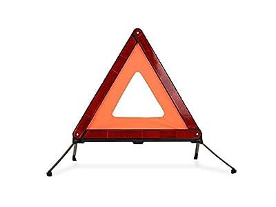 Warndreieck für KFZ Fahrzeuge Pannenhilfe zusammengelegt in schmaler roter Kunststoffhülle