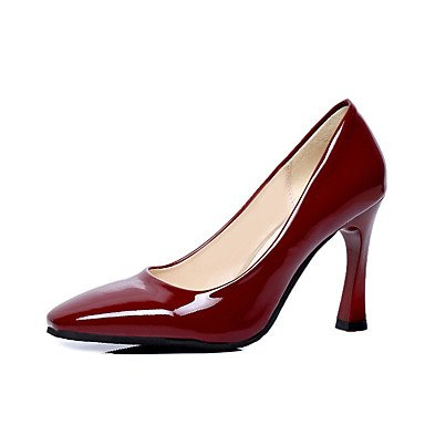 WSX&PLM Da donna-Tacchi-Casual-Comoda-Quadrato-PU (Poliuretano)-Nero Blu Rosso Argento Borgogna burgundy