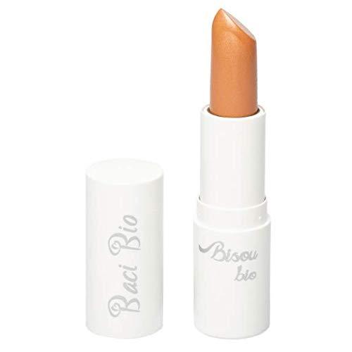 BISOU BIO - Rouge à lèvres 03 - Pêche - Texture crémeuse, hydratante et lumineuse - Arôme vanille - Aux huiles naturelles et au beurre végétal