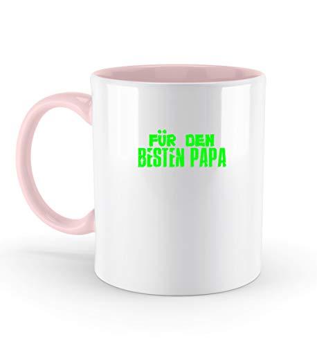 Für Den Besten Papa - Vater, Vati, Papi, Eltern, Ehemann, Dad, Daddy, Father, Mann, Männer - Zweifarbige Tasse -330ml-Puder Rosa
