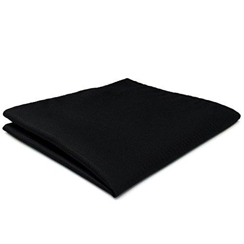 Shlax/&Wing Color S/ólido Negro Plateado Mens Pa/ñuelo De Bolsillo Para Hombre Traje de negocios Seda