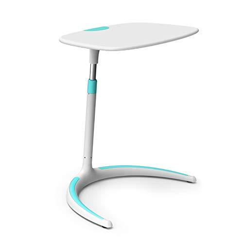 ZZWBOX Nordischen Stil Hubtisch Einfache Moderne Studie Tisch Sofa Beistelltisch Home Nacht Laptop Tisch Student Tabelle ABS Kunststoff Aluminium Legierung Chassis,Blue -