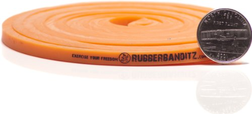 """Rubberbanditz Physical Therapy Band. #1 Light/Orange 5-15 lb (2-7 kg). - 41"""" Continuous Loop 100% Premium Multi-Layered Latex Exersize Resistance Assistance Band For Stabilization Stretching Toning Rehab/Recovery Prehab Mobility"""