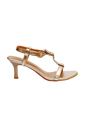 iLO Women's Gold Synthetic Heels (IL06A367HE-61015) - 5 UK  available at amazon for Rs.979