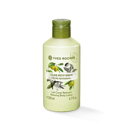 Yves Rocher LES PLAISIRS NATURE Körpermilch Olive-Petitgrain, feuchtigkeitsspendende Body Milk, 1 x Flacon 200 ml -