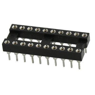 sourcingmap® 2,54 mm Pitch DIP IC rund 20 pin Kupplung Adaptor schmal (Runde Dip)