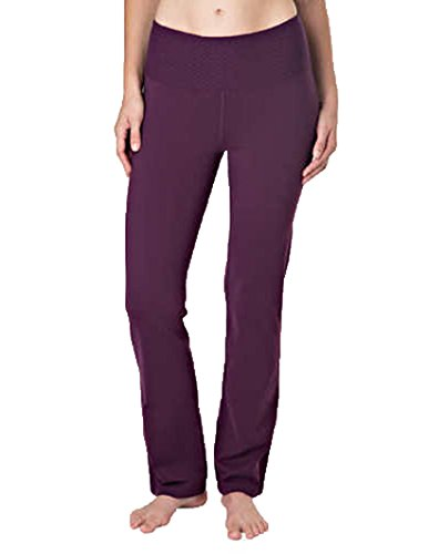 0b1727a25c1f2 Tuff Athletics Ladies Active Legging Yoga Pant High-Rise Slim Fit  (Purple,XXL
