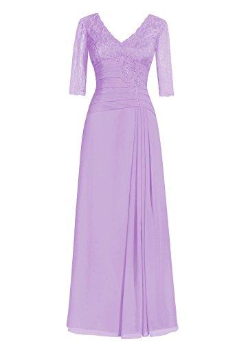 Dresstells Damen Abendkleider Bodenlang Homecoming Kleider Cocktail-Kleider Lavender