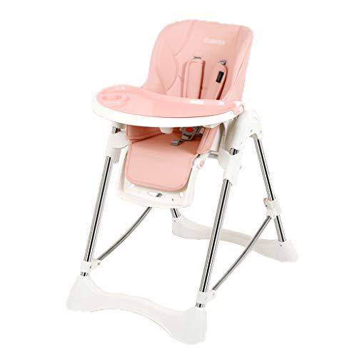 Kinder, Die Stuhl, 6 In 1 Multifunktions-justierbares Entfernbares Tragbares Essen Kind-Hochstuhl Sitzen Mit Rollen, für Haus, für Kinder 0-3 Jahre Speisen (Farbe : Cherry pink) -