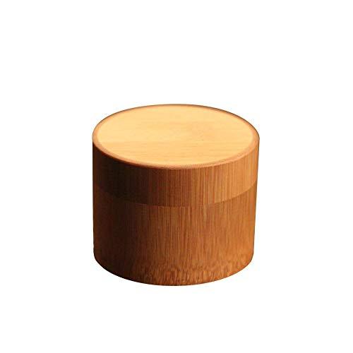 Descripción:  Nombre del producto: Pure Bamboo Straight Type Tea - Caddy Portable Tea Canister Tea Caja de almacenamiento Sealed Tea Can Special Tea Tank para viajes en casa  Presupuesto  Material: Bambú  Color: como se muestra en la imagen  Tama...