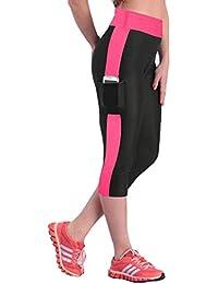 Edited Pantalones de jogging de yoga de cintura alta para mujeres  ocasionales estiramiento polainas recortadas 31790ba0f3a21