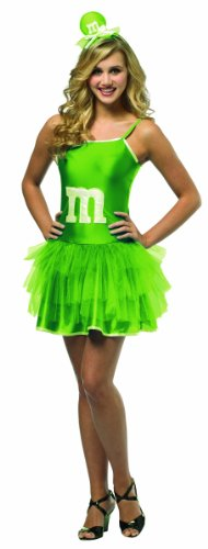 Rasta Imposta M&M Sassy Green Mini TuTu Costume Teen Sassy Green