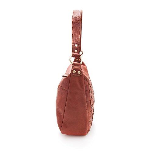 Zerimar Damen tasche Tasche aus echtem leder Einzigartig model schöne mit mehreren Taschen Handtasche echtem leder Kognak